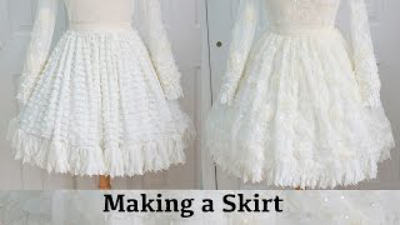Making a Skirt : The Fluffy Feathered Dress, Part One
