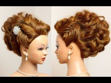 Prom wedding updo. Hairstyle for long hair tutorial