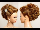 Prom wedding updo Hairstyle for long hair tutorial