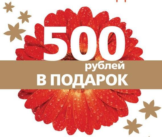 500 рублей это подарок 528
