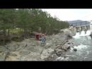 Прыжок на Чемальской ГЭС на тарзанке