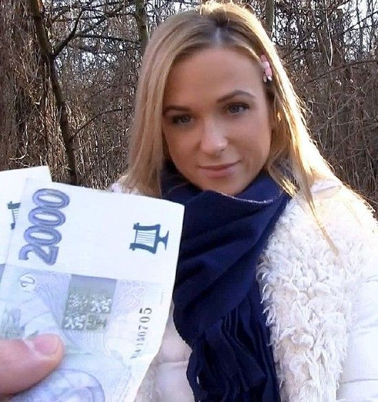 PublicPickups – Cristal Caitlin – Euro Babe Rides Dick Outdoors