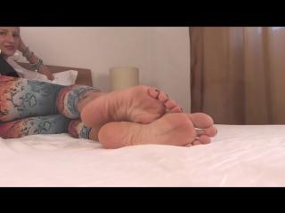 Hot Blonde Big Sexy Feet