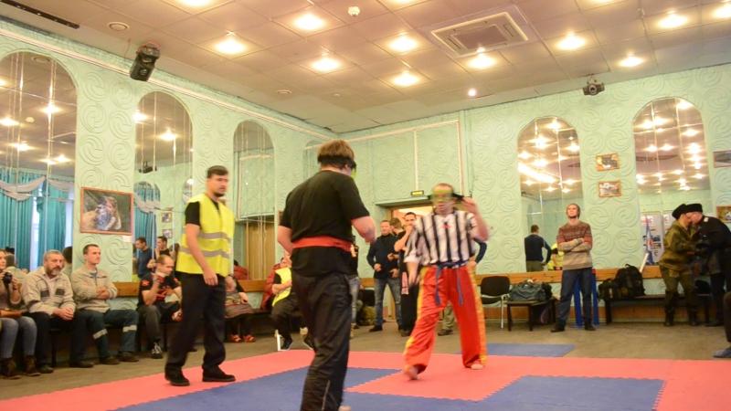 Турнир по спортивному ножевому бою Казачьи единоборства Борис vs Лешка