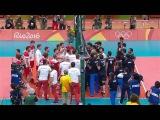 Polska-Iran 3-2 volleyball ostatnia akcja i awantura Rio 2016 | Poland-Iran 3-2 volleyball rio 2016