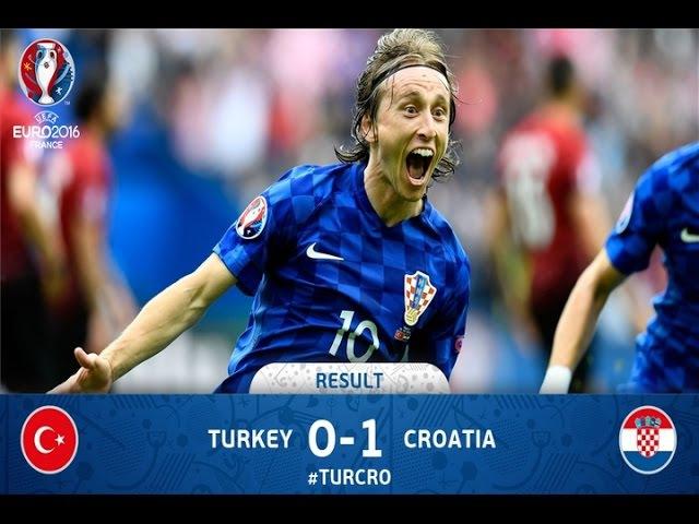 Highlights: Turska vs Hrvatska (0-1) UEFA EURO 12.6.2016