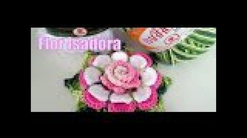 Flor de Crochê - Flor Isadora Diandra Schmidt Rosa
