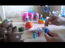 Распаковка 8 штук Kinder Surprise Кунфу-панда 3, Маша и медведь, Disney princesses