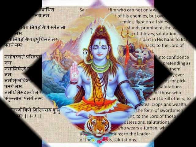 Shiva Rudram Full Namakam-Chamakam Devanagari Sanskrit English Translations.wmv