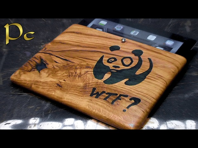 Case for iPad made of oak. Чехол для iPad из дуба и эпоксидный смолы.