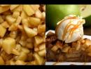 Простой пудинг из яблок и хлеба