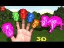 DONALD TRUMP - DINOSAUR ANKYLOSAURUS CANDY WALKING Finger Family 3D Nursery Rhymes