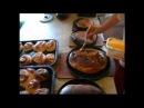 Булочки и рыбный пирог из русской печки