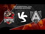 Team Empire vs Alliance @ TI6 EU Quali