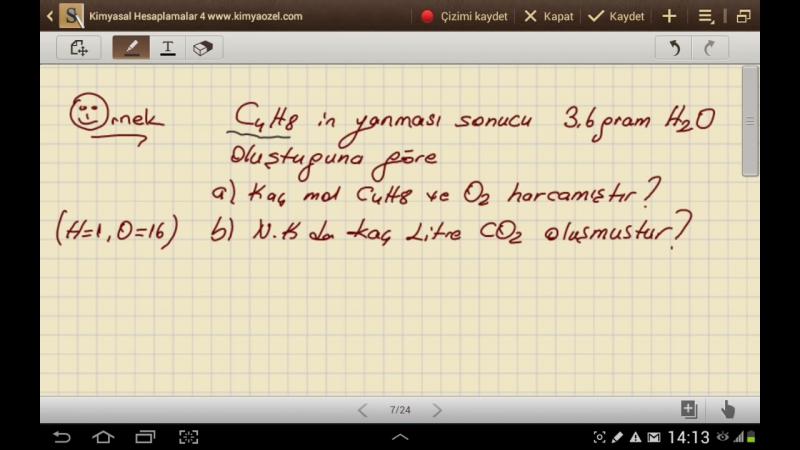 Kimyasal Hesaplamalar 4 (Denklemli Miktara Geçiş Problemleri)