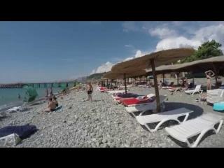 отдых +на черном море. Пляж п Лоо  ч 2.