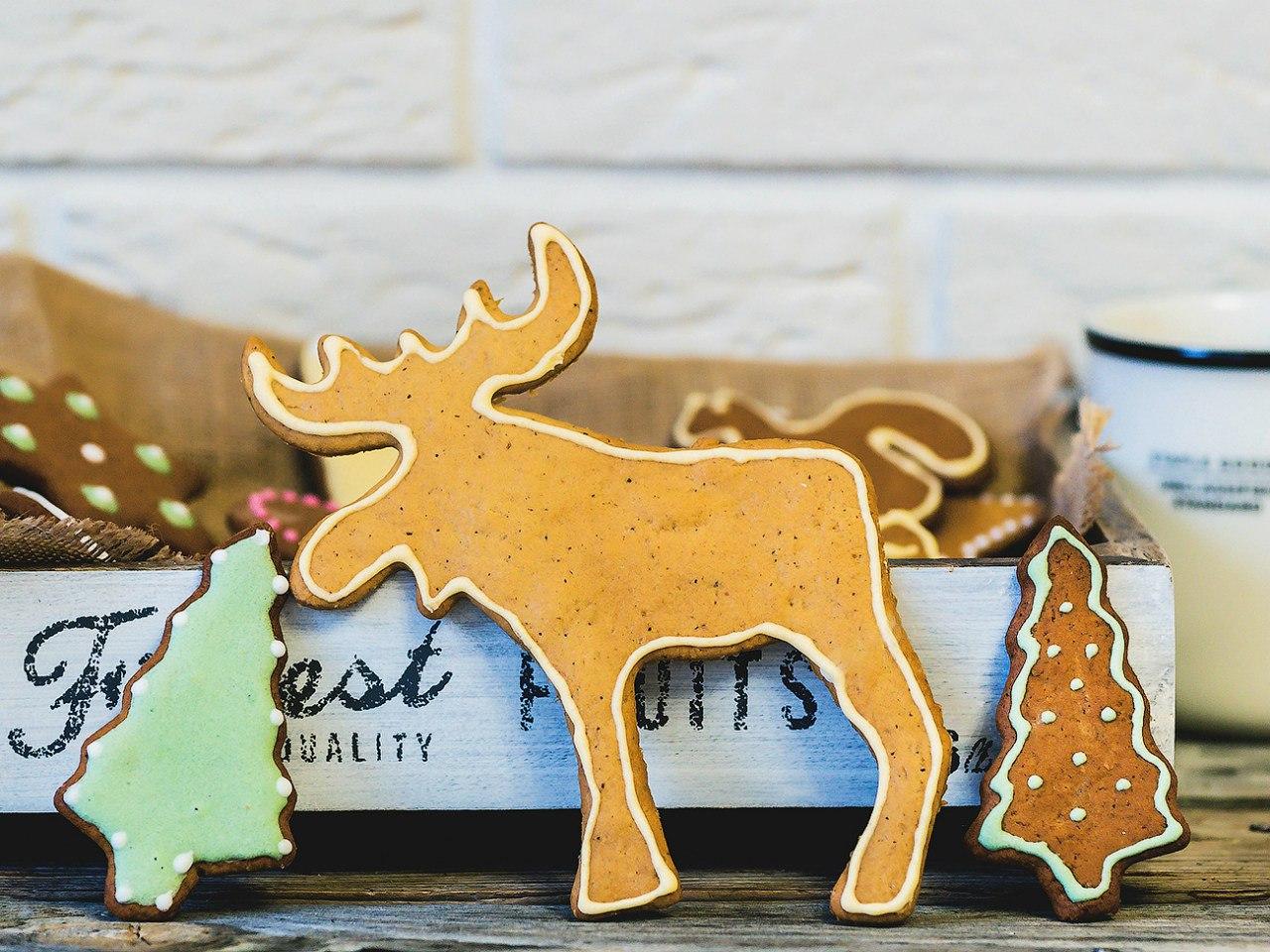Рождественское Имбирное печенье простой рецепт