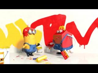 Миньоны игрушки для детей. Minions Song - Minion Toys. Мультики игрушки для детей