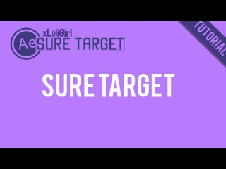 [After Effect Tutorial] Sure Target COOL EFFECT