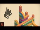 Create Isometric Art: Part 2 (Monument Valley)   Illustrator Tutorial