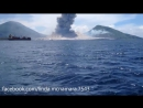 Ударная волна от извержения вулкана разогнала облака
