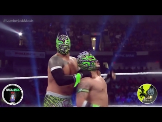 Wwe-nxt-aaa rey mysterio and sin cara(mistico) vs kalisto and sin cara(hunico) hd_hd  best luchador