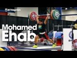Mohamed Ehab Training Session w Warm Up &amp Stretching 2015 World Weightlifting Championships