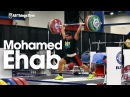 Mohamed Ehab Training Session w/ Warm Up Stretching 2015 World Weightlifting Championships