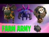 FARMING  GOLD | FARM ARMY | LAVALOONION | 3 STARS | REPLAYS | CLASH OF CLANS