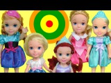 Bullseye Target Game! ELSA and ANNA toddlers & other kids PLAY & Win prizes! Who wins?