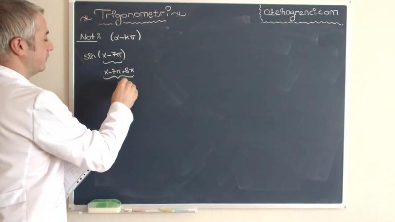 Trigonometri Bölgelere Göre Açısal Değerler