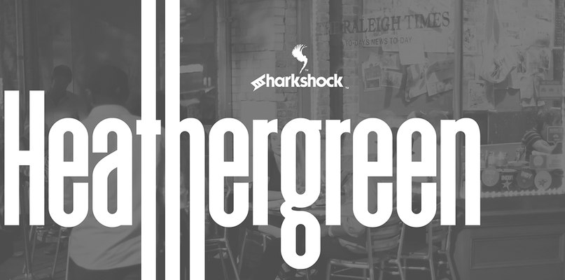 Download heathergreen sharkshock font (typeface)