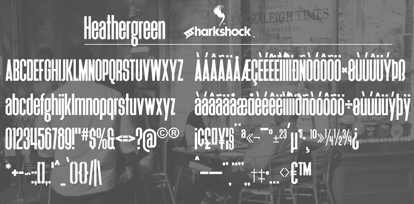 шрифт heathergreen sharkshock