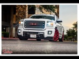 Slammed 2015 GMC Sierra with a HD front end does a sick burn out! #Salinas