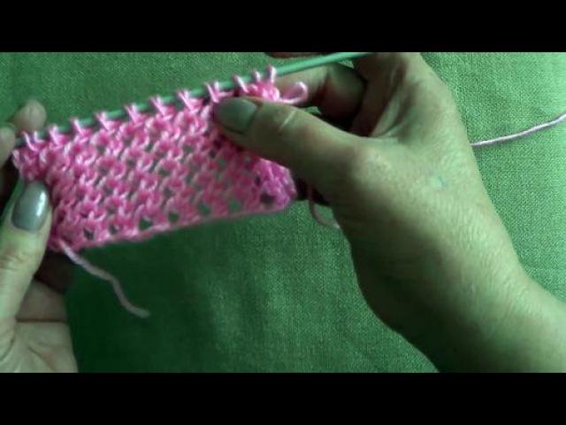 Вязание ажурных узоров спицами. Двусторонний ажурный узор.