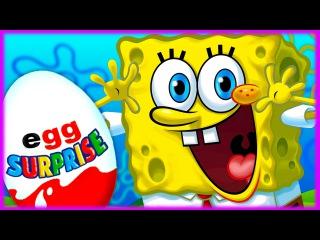 Surprise Eggs!!! Spongebob squarepants!!! ����� ��� ���������� �����   ���� � ��...