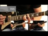 Как играть на гитаре Проклятый старый дом - Король и шут видеоурок Guitar riffs табы
