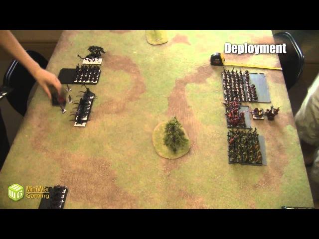 Beat The Cooler Batrep: Dark Elves vs Orcs and Goblins Part 1/2
