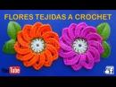 Flor ESPIRAL tejida a crochet fácil y rápido paso a paso para BOLSOS Y TAPETES