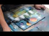 Львов - уличный художник. Картина краской из балончика