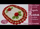 PAP Tapete de crochê Rosa enrolada de barbante por JNY Crochê