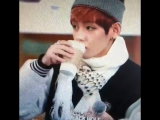 #Taehyung drinking coffee 😂 sound effects by Caitlynn Dowland #bts #bangtan #bangtan boys #JIN #JIMIN #rapmonster #suga #JHOPE #