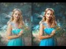 Художественная ретушь кукольный образ Photoshop Manipulation Tutorial Частотное разложение