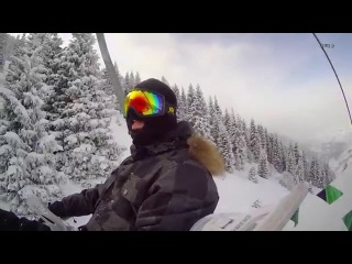 Snowboard on Akbulak #2: (black trail 1)