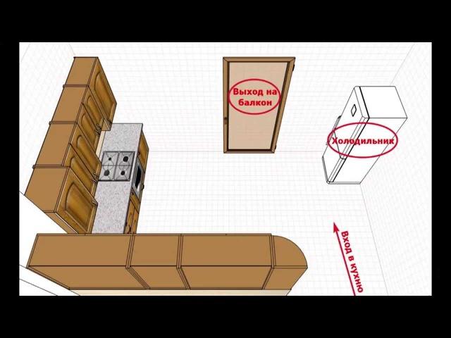 Замер проект изготовление кухни Часть 2