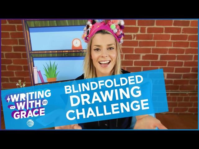 BLINDFOLDED DRAWING CHALLENGE / WWG EP 5 Grace Helbig