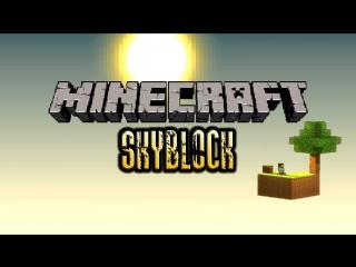 Survival/Выживание в Minecraft на карте SkyBlock №4 Портал в ад.