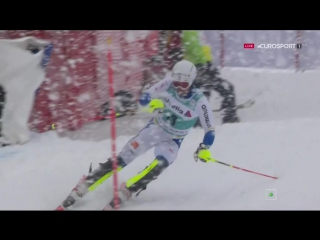 Горные Лыжи / Кубок Мира 2015-16 / Адельбоден (Швейцария) / Мужчины / Cлалом / 1 попытка / Eurosport