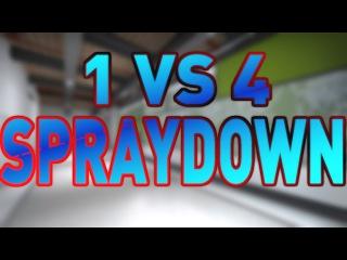 C9 shroud's PERFECT 1v4 SPRAYDOWN! CS:GO