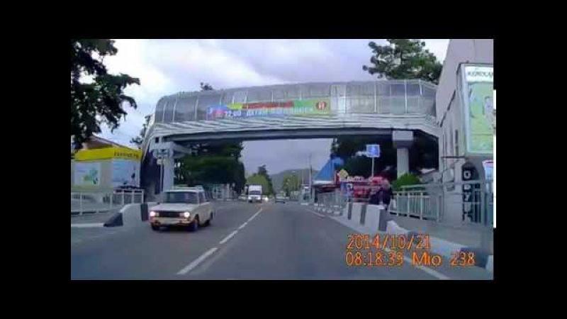 Дорога из поселка Лермонтово в Новомихайловский Туапсинский район